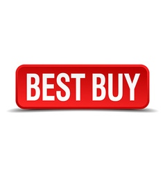 best buy red three-dimensional square button vector image