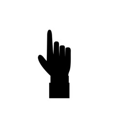 black hand with index finger pointing isolated on vector image