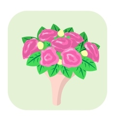 Bouquet of flowers cartoon icon vector