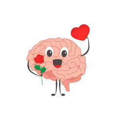 brain characters romantic lover exercises and vector image