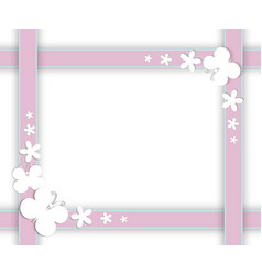 butterflies on frame vector image