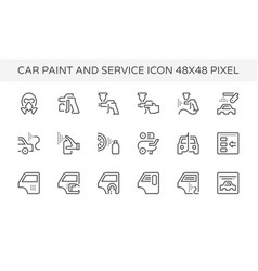 car paint icon vector image