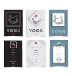 Cards template for yoga studio vector