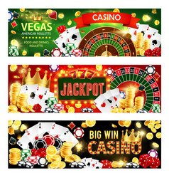 casino poker wheel fortune dice gamble games vector image