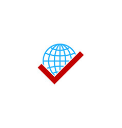 check globe logo icon design vector image