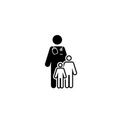 child care and medical services icon flat design vector image