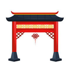 Chinese gate and pendant vector