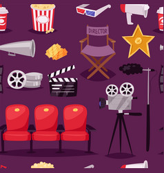 Cinema movie making tv show equipment tools vector
