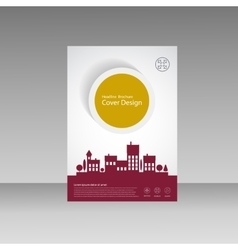 City design brochure template vector