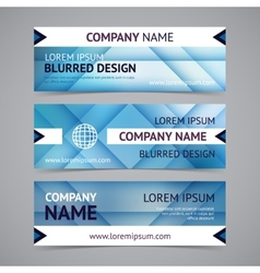 company banners with blurred backgrounds vector image