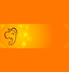Creative lord ganesha banner with text space vector