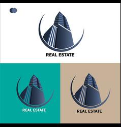 Creative real estate logo design template vector