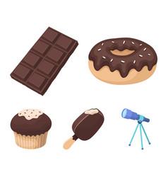 donut with chocolate zskimo shokolpada tile vector image