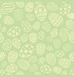 easter egg seamless pattern holiday background vector image