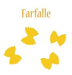 Farfalle pasta vector
