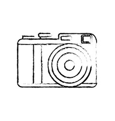 Figure cute digital camera to take a picture vector
