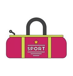 flat icon on stylish background sports bag vector image