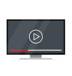 flat screen tv watching video film vector image