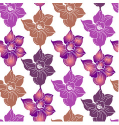 Floral printed seamless pattern with colorful vector