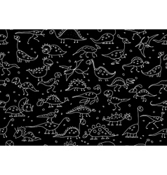 Funny dinosaurs seamless pattern for your design vector