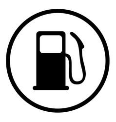 gas pump icon vector image