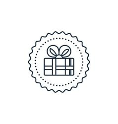 Gift box icon special present idea vector