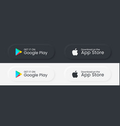 google play store apple app store download vector image