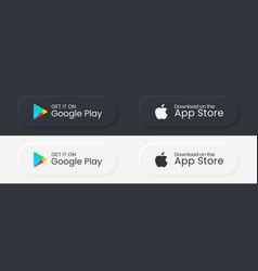 Google play store apple app store download vector