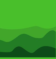Green mount background template design vector