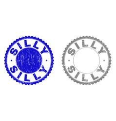 Grunge silly textured stamp seals vector