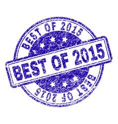 Grunge textured best of 2015 stamp seal vector