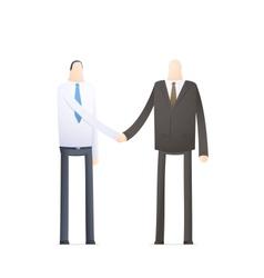handshake employee and boss vector image