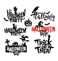 Happy halloween text vector