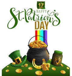 happy st patricks day greeting card text and vector image
