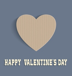 Heart from cardboard for Valentines day vector image