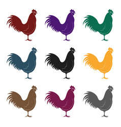 home cockanimals single icon in black style vector image