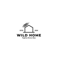 Home or house secure wildlife logo design vector