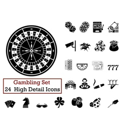 icon set Gambling vector image