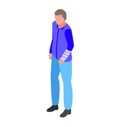 Injured man icon isometric style vector
