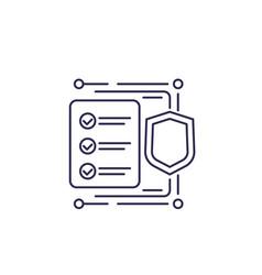 Insurance claim icon line vector