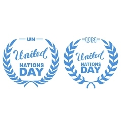 International Day of UN Peacekeepers Lettering vector image