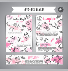 lingerie fashion bra and pantie newsletter vector image