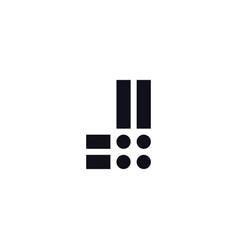 logo letter j black and white vector image