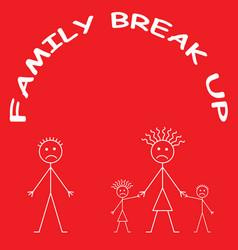 marriage break up vector image