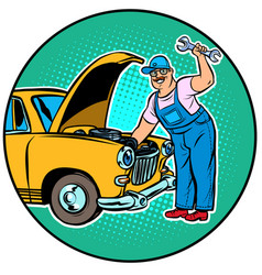 master car repair vector image