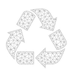 mesh recycle icon vector image