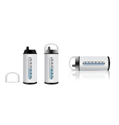 Mock up realistic white water bottles for sport vector