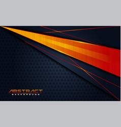 modern dark navy background and orange lines vector image