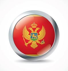Montenegro flag button vector image