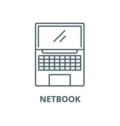Netbook line icon linear concept outline vector